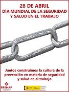 28 de abril. Día mundial de la seguridad y la salud en el trabajo