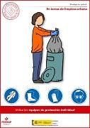En tareas de limpieza urbana