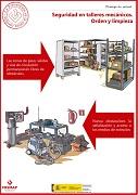 Seguridad en talleres mecánicos. Orden y limpieza