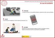 En caso de accidente: 1º Proteger 2º Avisar 3º Socorrer