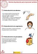 Normas de protección para el personal sanitario...