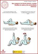 Para asegurar una buena postura, mantén flexibles la cadera y las extremidades inferiores