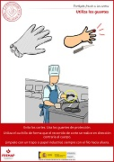 Utiliza los guantes