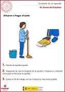 En tareas de limpieza