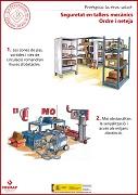 Seguridad en talleres mecánicos. Orden y limpieza (catalán)