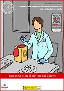 Deposita los objetos cortantes y punzantes en los contenedores rígidos (catalán)