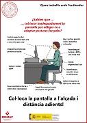 Cuando trabajes con el ordenador, coloca la pantalla (catalán)