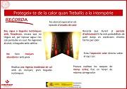 Protégete del calor cuando trabajes a la intemperie (catalán)