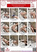cartel sobre lavado de manos
