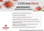 Buenas prácticas en la prevención frente al nuevo coronavirus (covid-19) - cuando estés en el trabajo
