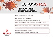 CATALÁN: Buenas prácticas en la prevención frente al nuevo coronavirus (covid-19) - cuando estés en el trabajo