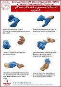 Buenas prácticas en la prevención frente al nuevo coronavirus (covid-19) - ¿cómo quitarse los guantes de forma segura?