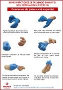 CATALÁN: Buenas prácticas en la prevención frente al nuevo coronavirus (covid-19) - ¿cómo quitarse los guantes de forma segura?