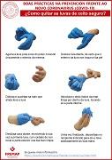 GALLEGO: Buenas prácticas en la prevención frente al nuevo coronavirus (covid-19) - ¿cómo quitarse los guantes de forma segura?