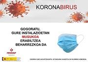 EUSKERA: Uso de mascarillas en instalaciones