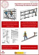 Seguridad en operaciones de montaje y desmontaje de andamios tubulares