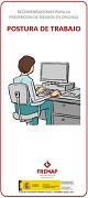 Recomendaciones para la prevención de riesgos en oficinas (postura de trabajo)