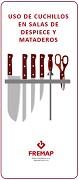 Uso de coitelos en salas de despezamento e matadoiros