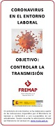 Coronavirus in the working environment. Target: control the spread